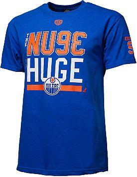 "Old Time Hockey Edmonton Oilers Ryan Nugent-Hopkins ""NUGE IS HUGE"" Player T-shirt - Shop.Canada.NHL.com"