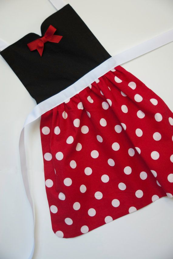 Minnie Mouse dress up delantal para niños y por SimplyRoyalDress