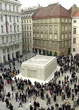 Rachel Whiteread's Holocaust monument at the Judenplatz in Vienna