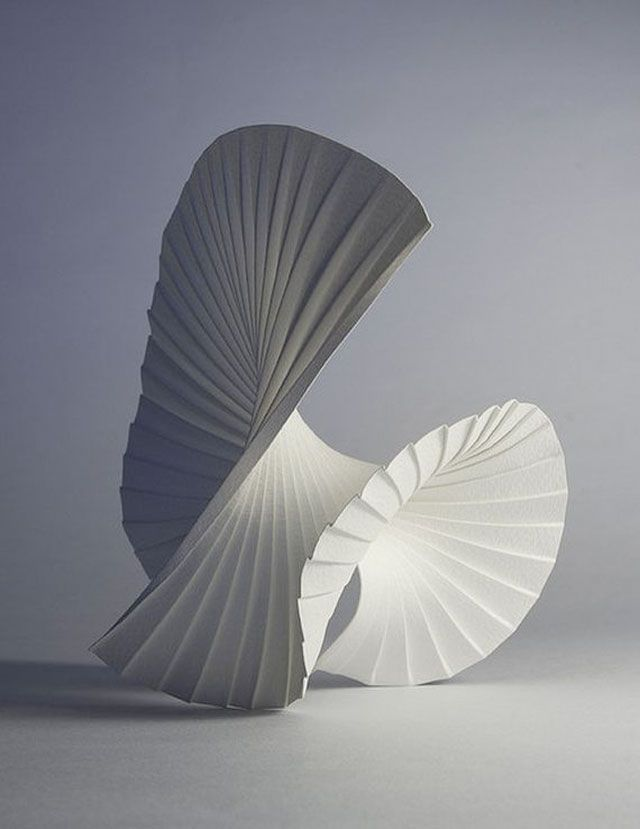 Motion Pleat, 2010 - Paper Art Sculptures by Richard Sweeney