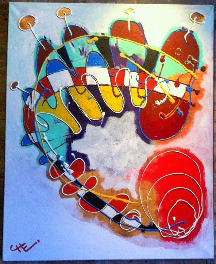 """""""SUBTERRANEO"""" (Underground) by Chilean Artist Cristobal Lagomarsino """"CHE"""". Acrylic Paint. 2013 40""""x32"""" (100x80cm) by SouthandSoul on Etsy #art #acrylic #canvas #original #fromsouthamerica #artche www.artche.cl"""