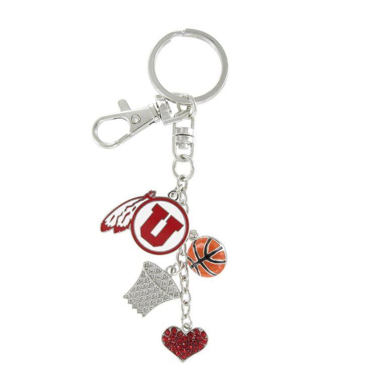 Utah Utes Basketball Combo Key Chain