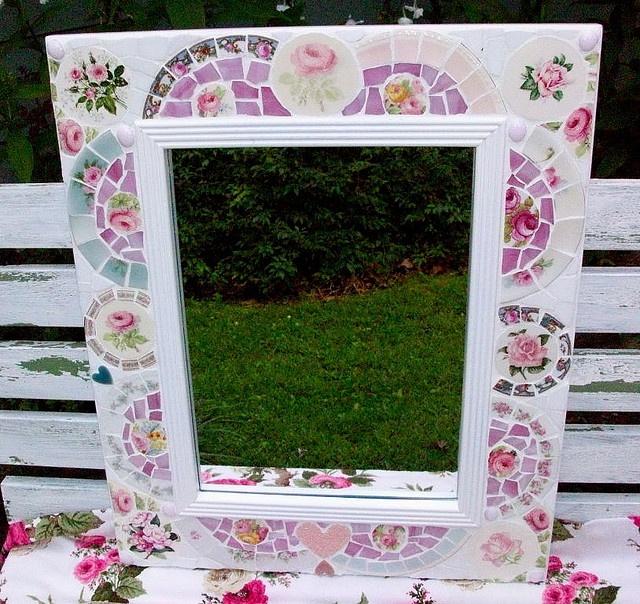 shabby chic mosaic frame.