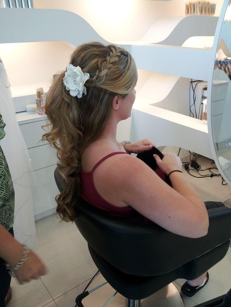 Beautiful wedding up-do by Shea