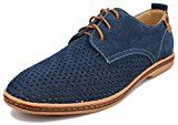 Kunsto Men's Leather Oxfords Dress Shoes Lace up Breathable Upper  This classically styled oxford boasts a nubuck suede upper with contrast stitching and 3-eyelet lacing for a look that never goes out of style. The lightweight flexible outsole adds just the right amount of comfort and traction to your day Upper Material  https://www.amazon.com/Kunsto-Leather-Oxfords-Dress-Breathable/dp/B0142K084G%3FSubscriptionId%3DAKIAINK752IUT74DHSYQ%26tag%3Dfash-men-20%26linkCode%3Dxm2%26camp%3D..