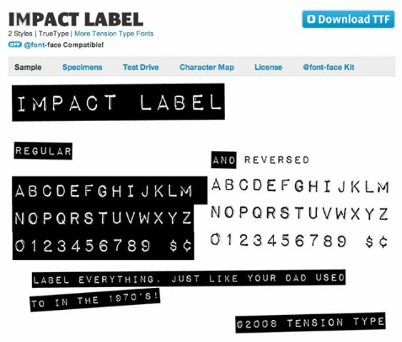 Remember label makers? This font will let you reproduce that ...