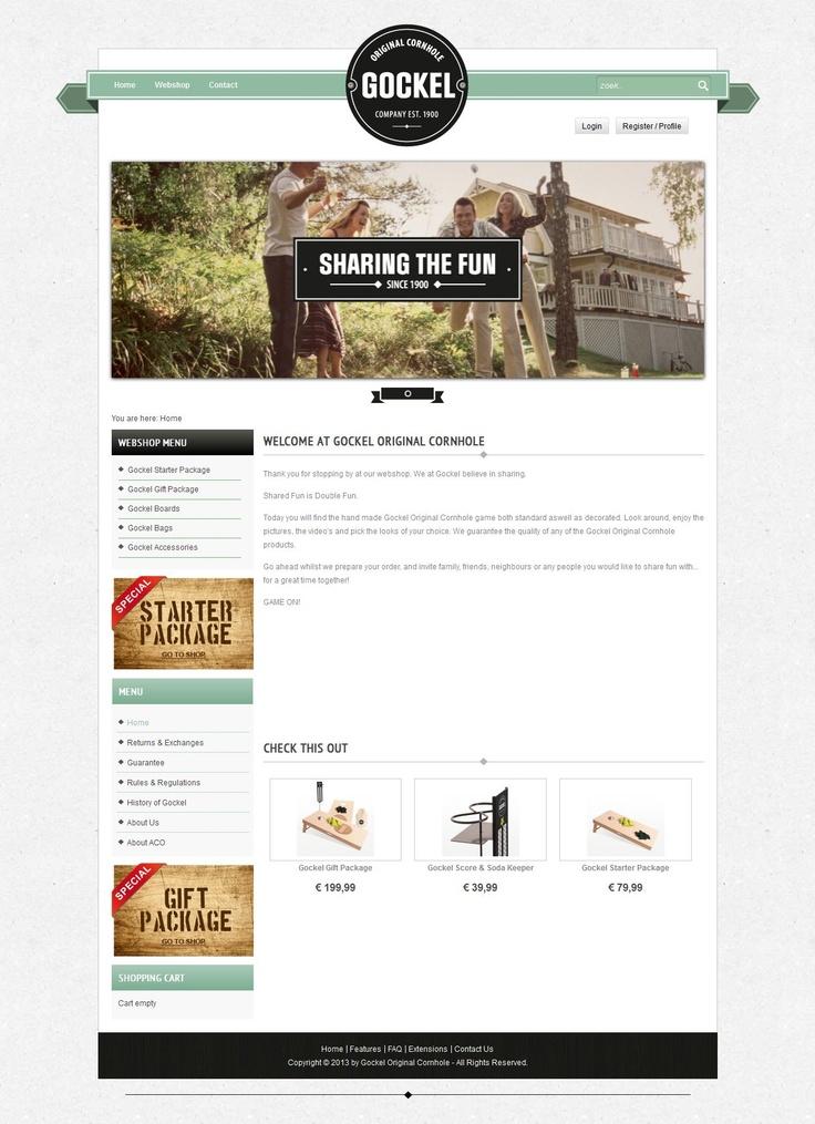 Webshop van Gockel Cornhole #Joomla #Webdesign