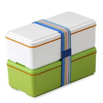 earth フォレスト(緑) 3360yen 2段で容量たっぷり!保冷剤いらずの冷たいランチボックス