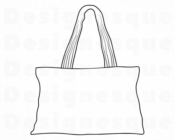 Tote Bag Outline Svg Tote Bag Svg Tote Bag Clipart Tote Bag Etsy In 2021 Tote Bag Bags Formal Bag