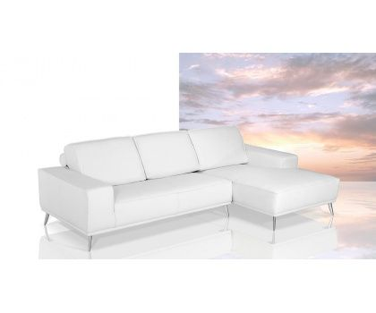 VIG- Dima Elite Divani Casa Modern Italian White Leather Sectional Sofa