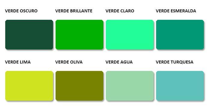 Tipos de verdes con sus nombres buscar con google - Cual es el color turquesa ...