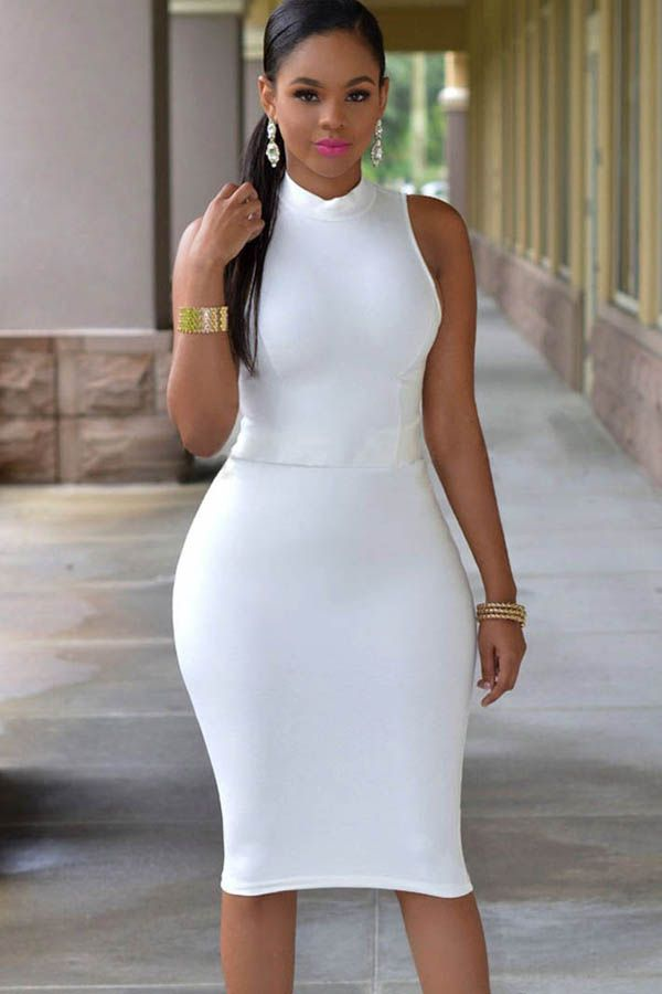 25  best ideas about All white bodycon dress on Pinterest | White ...