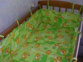 Постельное белье и бампер для детской кроватки своими руками