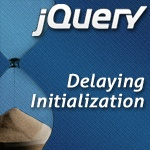 Delay Initialization with jQuery Delegation    As the internet fills with more and more JavaScript code, we need to become more and more aware of the impact of our code has on performance. One of the big pain points can come from all of your code being initialized and loaded during jQuery.ready() or (if you're a good boy who puts all the code at the end of the document) right away. We can delay some initialization until later, right?