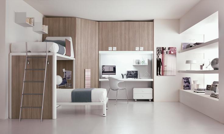 17 migliori idee su camere da letto a castello su for Piani di progettazione di 2 camere da letto