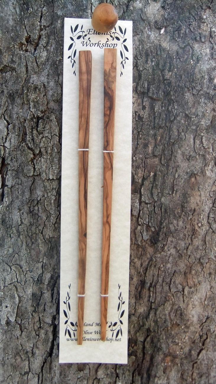 Olive Wood chopsticks hand made
