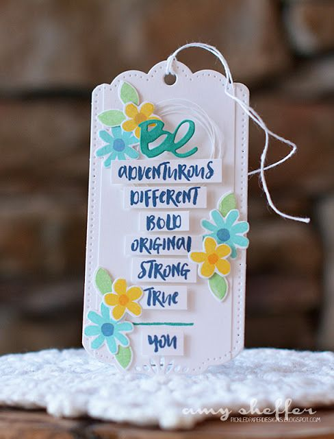 Be You Bookmark by Amy Sheffer for Papertrey Ink (February 2016)