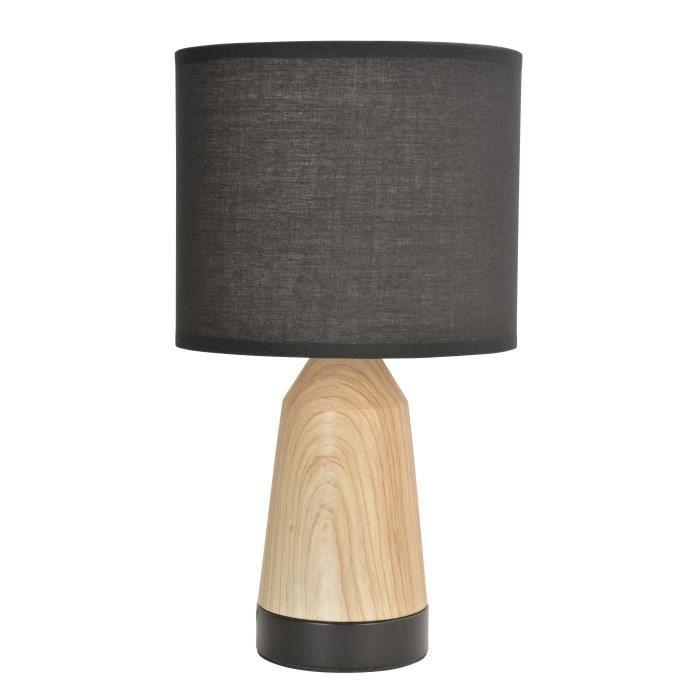 Corep Lampe Touch Baltik Noir Et Naturel Lampe Tactile Lampe Touch Lampe