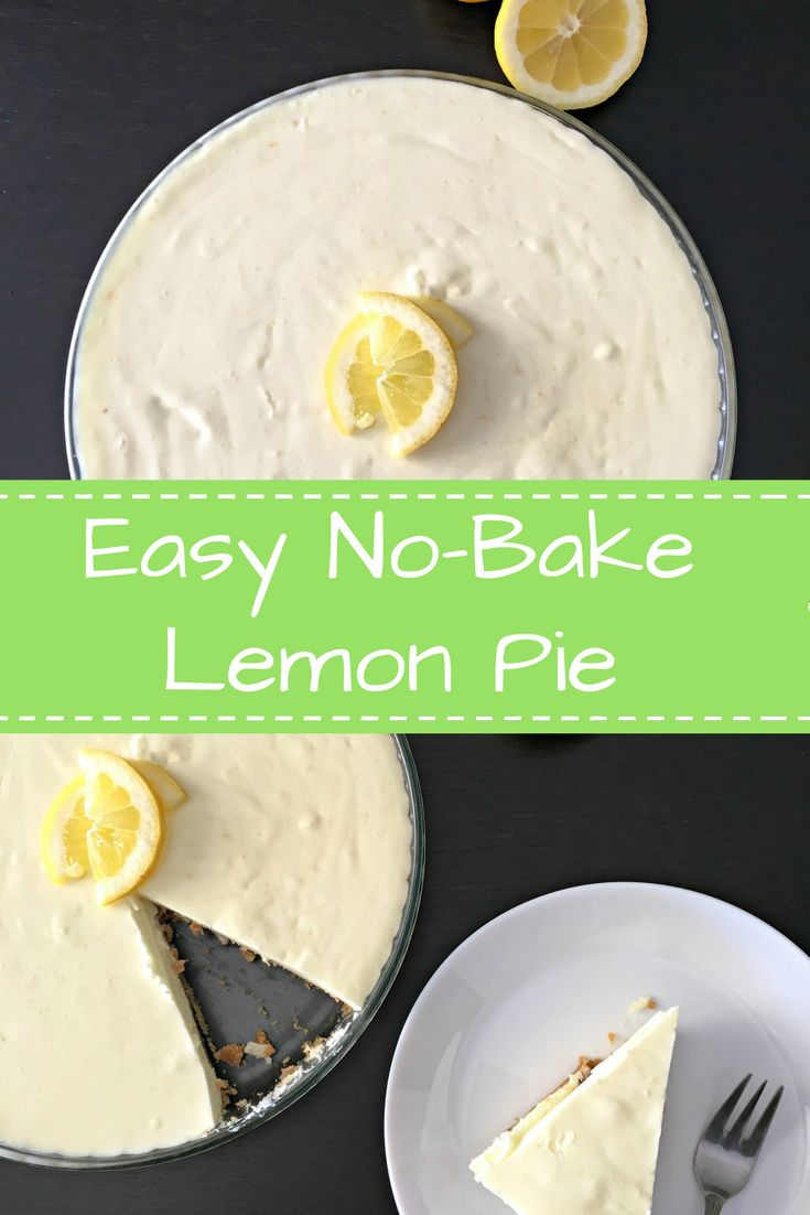 Easy, no-bake Lemon Pie: A light and creamy lemon pie full of flavor, perfect spring or summer dessert! - Ioanna's Notebook