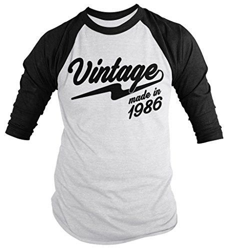 This t-shirt is perfect for your next birthday! Let everyone know you're original vintage in this personalized birthday year t-shirt. Made in 1986, 30th birthday. The design is a vintage retro style a