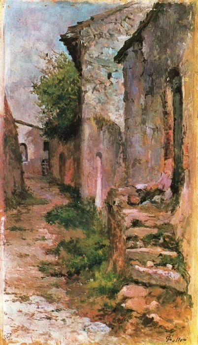 Giovanni Fattori (Village road)