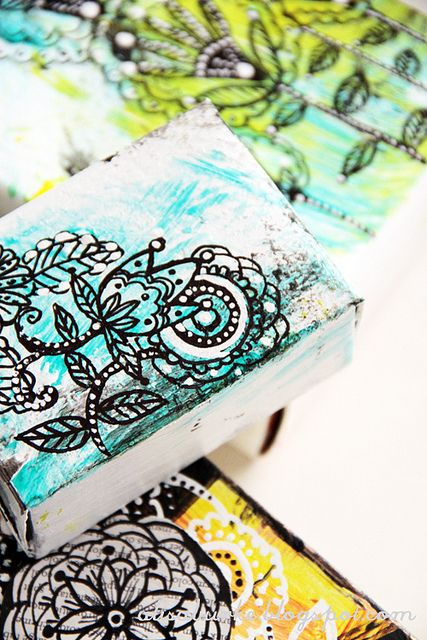 Cardboard Boxes + Paint + Sharpies = Cheap Beautiful Artwork