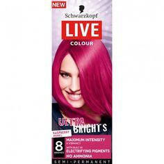 Schwarzkopf Live Colour Ultra Brights Raspberry Rebel Hair Colour 1 ea, $5.49