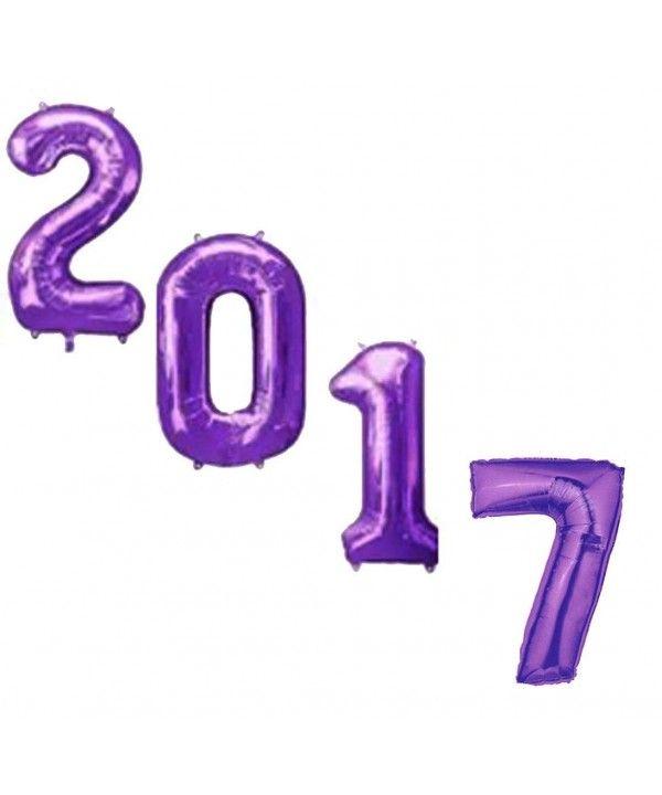Graduation Ceremony 2017 34 Inch Purple Mylar Balloons (4 Pieces / Kg) Pkg / 1 - CQ12LHS8T7B