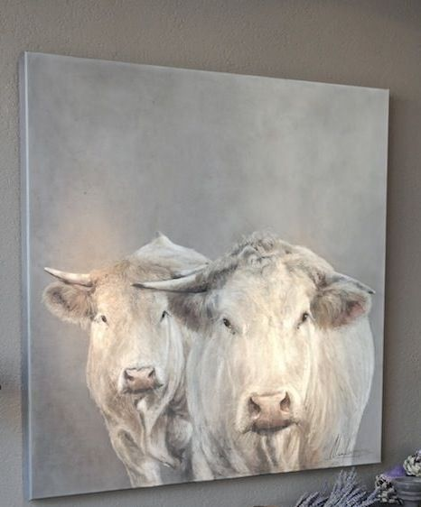 contemporary country cow painting - Kunst Annabelle Lanfermeijer