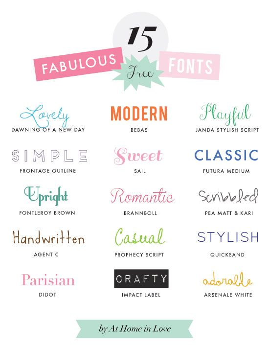 15 Fabulous Free Fonts  ~~ {w/ easy download links} ~~