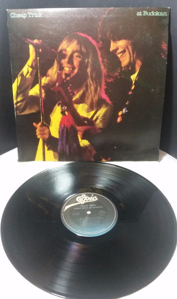 "CHEAP TRICK Live At Budokan LP Vinyl Record 12"" Power Pop Arena Rock 1978 Epic #PopRock"