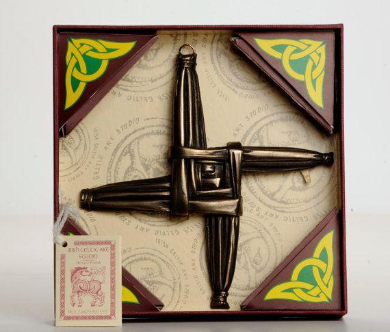 St Brigid's Cross Sculpture Sign Irish Celtic Art by TruIrish