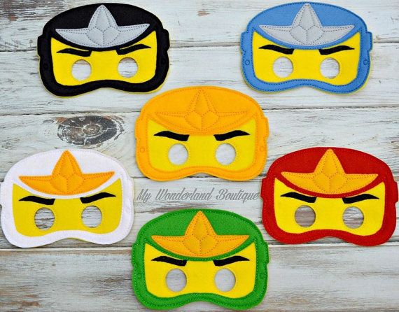 Lego Ninjago mask by MyWonderlandBoutique on Etsy