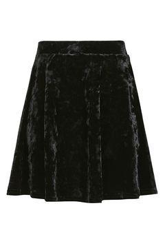 PETITE Velvet Flippy Skirt