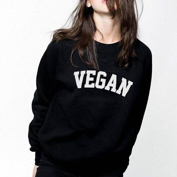Vegan shirt text shirt cool shirt funny word shirt fashion funny sweater jumper shirt sweater long sleeve tee shirt women tshirt men tshirt slogan saying gift motto life code