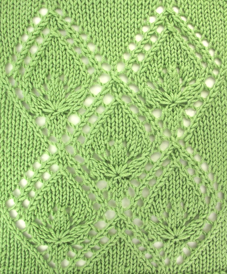 This month, we have several Estonian patterns based on the lovely Waterlily pattern. Estonian Waterlily Pattern incorporates the motif in an allover pattern. Find it in the Estonian Lace category.