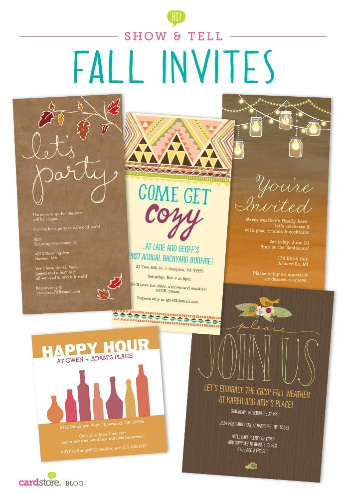 A behind-the-scenes look at the making of our fall party invitations!