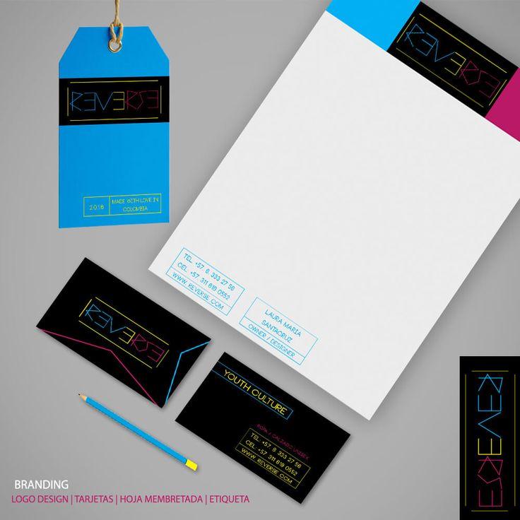 Brand stationery   diseño de marca   REVERSE