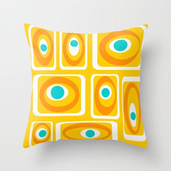 Modern Outdoor Pillow, Cool Outdoor Pillow, Yellow Outdoor Pillow, Modern Outdoor  Cushion, Mid Century Modern Pillow, Geometric Pillow