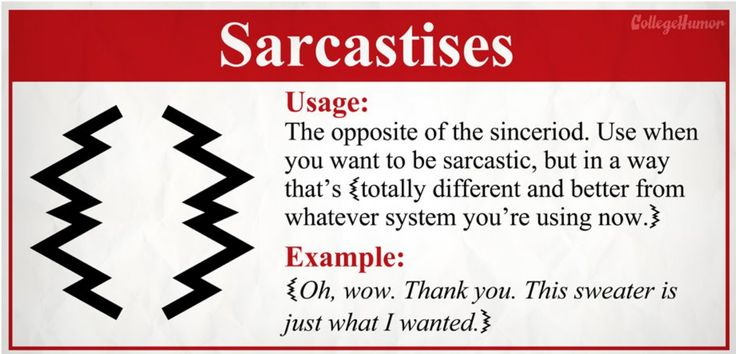 sarcasm examples - Google Search