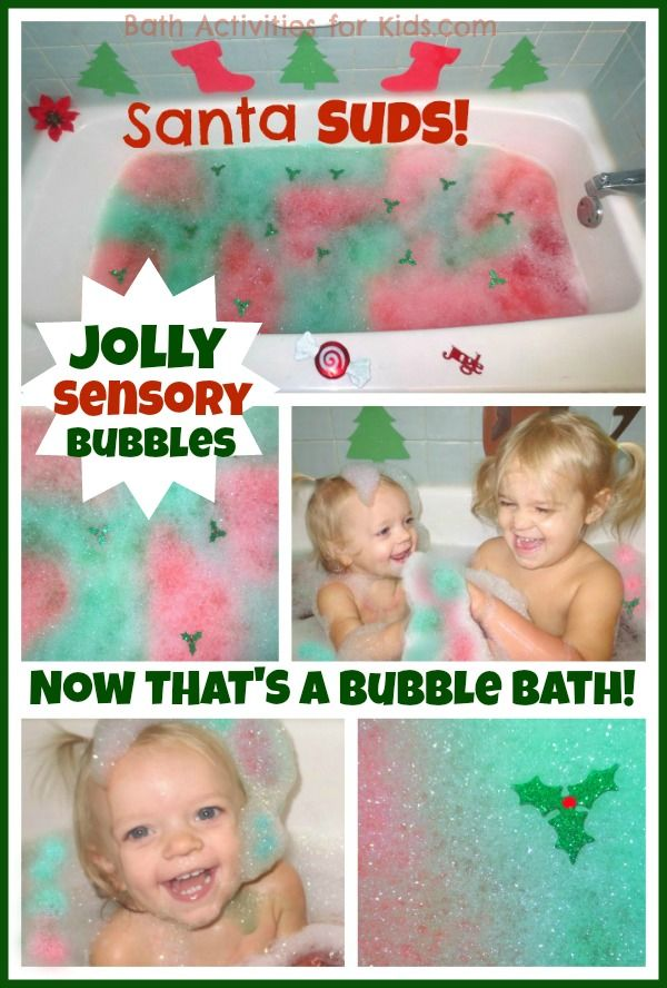 Make special holiday memories with a Santa Suds Bubble Bath- simple to