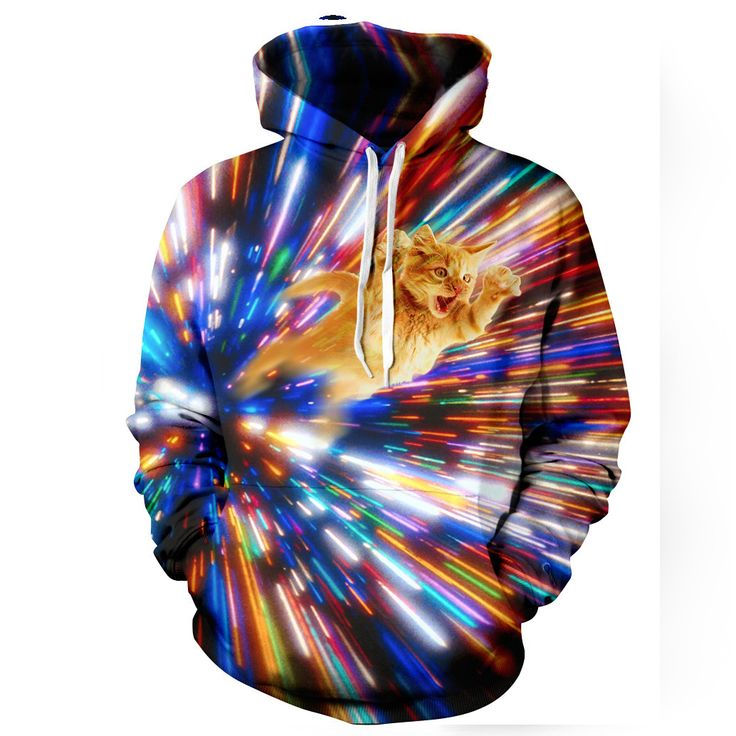 "belovedwear® presents the #CatVortexHoodie. By Marcus Hadlock This ""all over"" print crewneck sweatshirt is made using a special sublimation technique to provide"