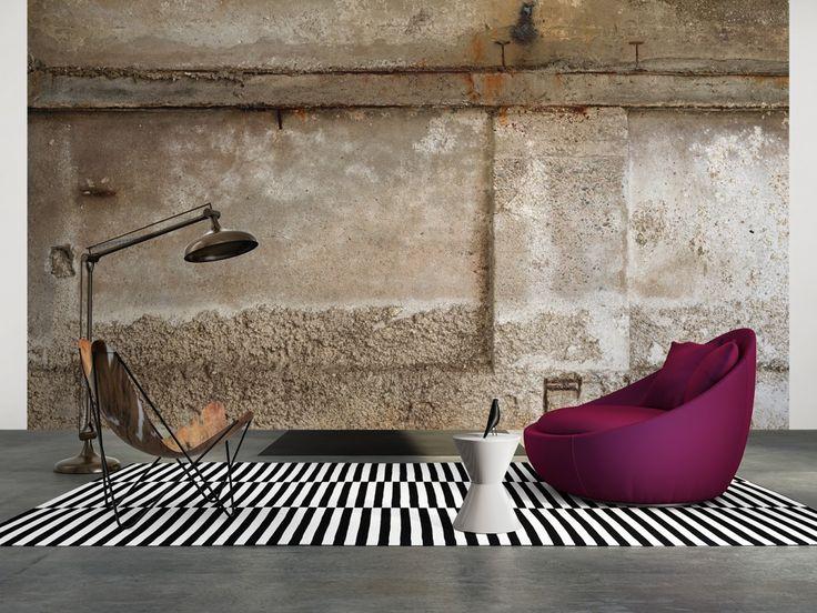 Ber ideen zu betonwand auf pinterest tapete - Betonwand wohnzimmer ...