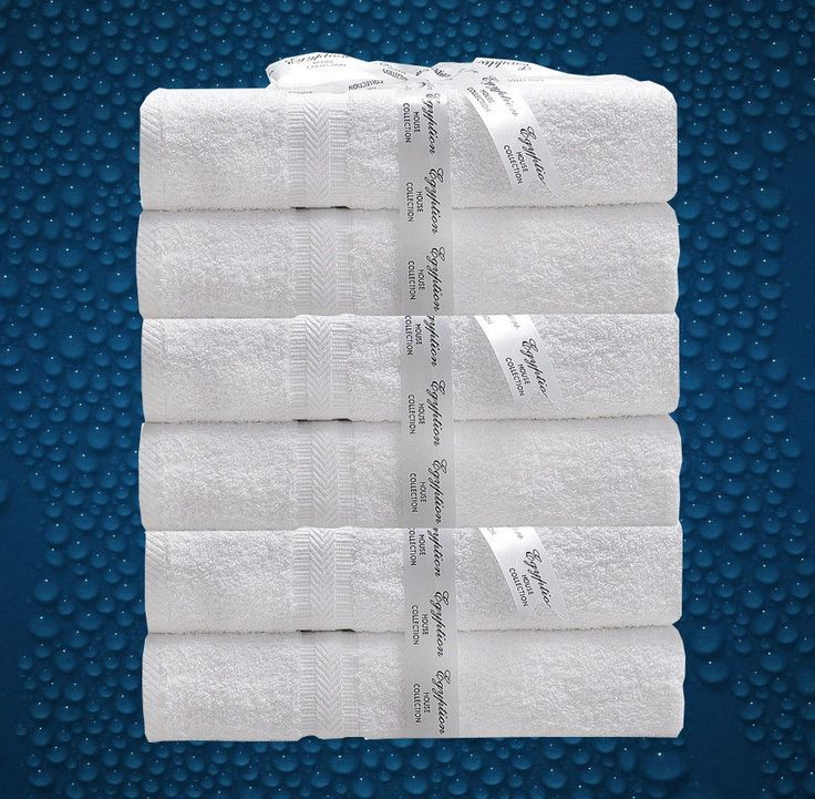 6-Pack 550GSM EGYPTIAN COTTON Bath Towels Hotel Grade Classic Collection White in Home & Garden, Bath, Towels & Washcloths | eBay