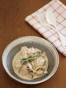 鶏肉のマスタードクリーム煮込み