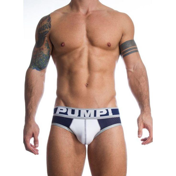 3 colors Brand Mesh Briefs Men PUMP Style Sexy Gay Men underwear Slip Cueca Men Pennis Pants Soft Underpants Boy Hot brief
