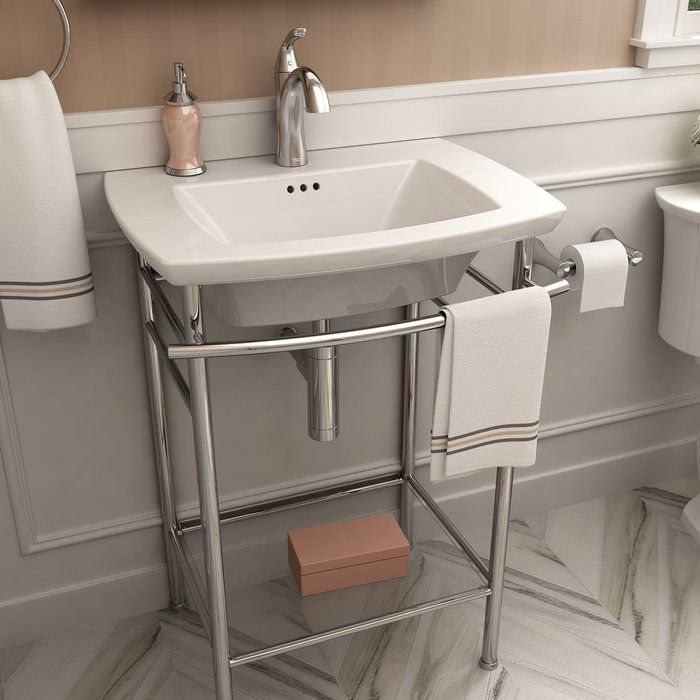 Edgemere 25 Console Bathroom Sink With Overflow House