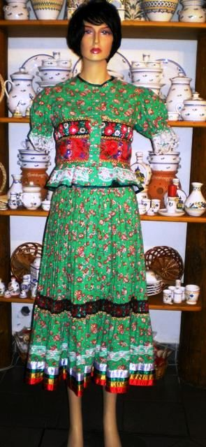 Hungarian folkwear: a matyó dress from Mezőkövesd.