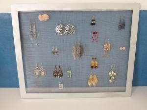 Incroyable Porte Boucle D Oreille Fait Maison mon porte boucles d'oreille fait maison! | cadre porte bijoux