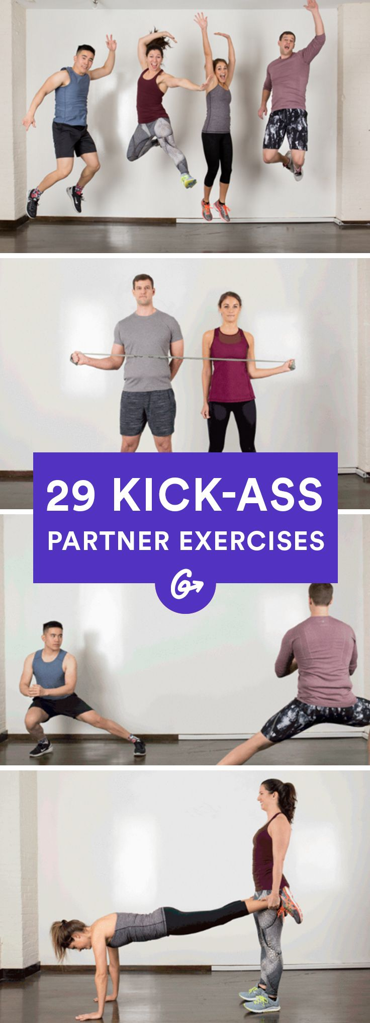 Because everything is better with friends, especially working out. http://greatist.com/fitness/35-kick-ass-partner-exercises